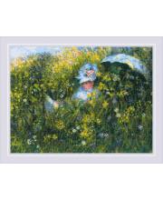 Набор для вышивания На лугу по мотивам картины К. Моне РИОЛИС