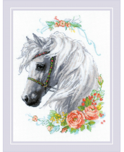 Набор для вышивания Белогривая лошадка РИОЛИС