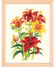 Набор для вышивания Солнечные лилии РИОЛИС