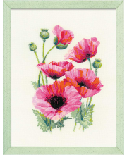 Набор для вышивания Розовые маки РИОЛИС