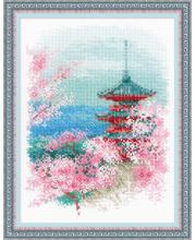 Набор для вышивания Сакура Пагода РИОЛИС
