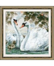 Набор для вышивания Белые лебеди РИОЛИС