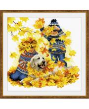 Набор для вышивания Осенние каникулы РИОЛИС
