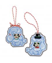 Набор для вышивания Новогодние игрушки Собачки РИОЛИС