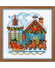 Набор для вышивания Домик с санями РИОЛИС