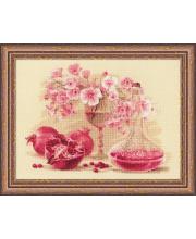 Набор для вышивания Розовый гранат РИОЛИС