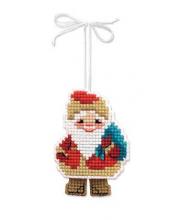 Набор для вышивания Новогодняя игрушка Дедушка мороз РИОЛИС