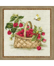 Набор для вышивания Малина в лукошке РИОЛИС