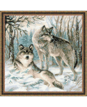 Набор для вышивания Волчья пара РИОЛИС