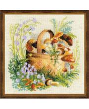 Набор для вышивания Грибное лукошко РИОЛИС