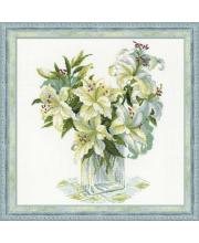 Набор для вышивания Белые лилии РИОЛИС