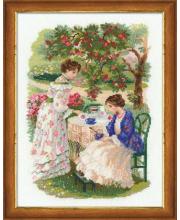 Набор для вышивания Русская усадьба Чай под яблоней РИОЛИС