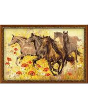Набор для вышивания Табун лошадей РИОЛИС