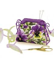 Набор для вышивания Игольница-сумочка Анютины глазки РИОЛИС