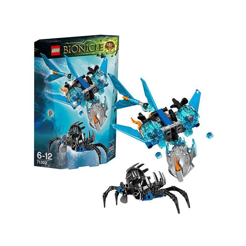 Конструктор Биониклы Акида - Тотемное животное ВодыКонструктор Биониклы (Bionicle) Акида - Тотемное животное Воды марки LEGO.<br>Акида - тотемное животное Воды, способен видеть прошлое, настоящее и будущее, очень мудр,при объединении с Тоа, Акида наделяет их силой духа и ясностью разума. Охотник Умарак уже поставил капкан на дне океана, но Акида не так-то прост: его мощные плавники, подвижный хвост идва мощных скорострельных шутера способны отстоять не один бой!<br>Характеристики:<br>- У тотемного животного 2 скорострельных шутера, подвижные конечности; капкан может открываться и закрываться<br>- Тотемное животное можно объединить с любым биониклом Тоа<br>В наборе:фигурка тотемного животного и Капкан Тьмы<br>Кол-во деталей:120<br>Размеры упаковки: 18,8 х 5,2 х 14см<br><br>Возраст от: 6 лет<br>Пол: Для мальчика<br>Артикул: 642798<br>Бренд: Дания<br>Размер: от 6 лет