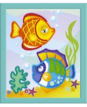 Частичная вышивка Морские рыбки РИОЛИС