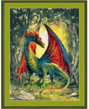 Частичная вышивка Лесной дракон РИОЛИС