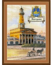 Частичная вышивка Города России Кострома РИОЛИС