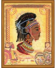Частичная вышивка Африканская принцесса РИОЛИС