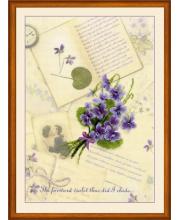 Частичная вышивка Письма о любви Фиалки РИОЛИС