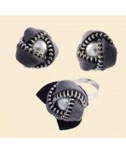 Набор для вышивания Клипсы и перстень Розочки РИОЛИС