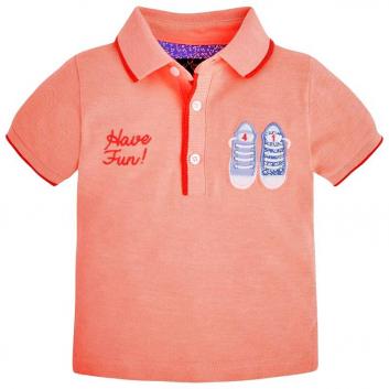 Мальчики, Рубашка-поло MAYORAL (коралловый)643557, фото