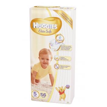Гигиена, Подгузники Elite Soft 12-22 кг 56 шт Huggies 644675, фото
