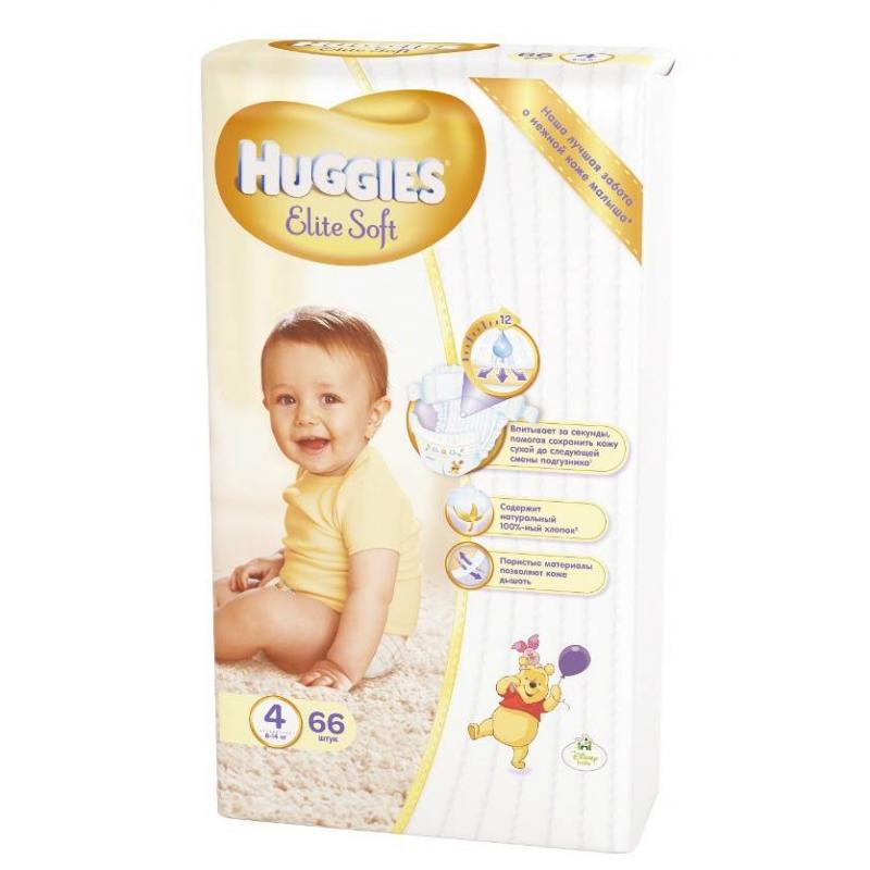 Huggies Подгузники Elite Soft 8-14 кг 66 шт huggies elite soft подгузники 4  8 14 кг  66 шт