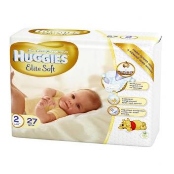 Подгузники для новорожденных Elite Soft 4-7 кг 27 шт