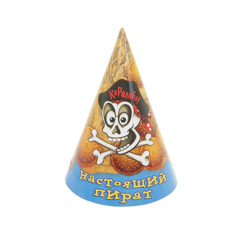 Страна Карнавалия Бумажные колпаки Настоящий пират 6 шт. декоративные колпаки на штампованные колеса 16