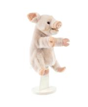 Поросенок игрушка на руку 25 см Hansa