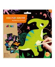 Цветная гравюра для малышей Динозавры Avenir