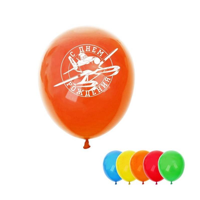 Шар Воздушный С Днем Рождения! Самолеты 5 шт.Шар Воздушный С Днем Рождения! Самолеты, 5 шт.марки Страна Карнавалия.<br>Воздушные шарики – одни из лучших элементов украшения любого помещения в день праздника.Набор включает сразу 5 крупных шаров для создания праздника. Яркие шарики украшены надписью и изображением любимых героев Дисней.<br><br>Возраст от: 3 года<br>Пол: Не указан<br>Артикул: 644466<br>Страна производитель: Китай<br>Лицензия: Disney<br>Размер: от 3 лет