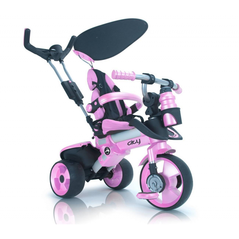 INJUSA Велосипед трехколесный CITY TRIKE Aluminium Pink Rosa
