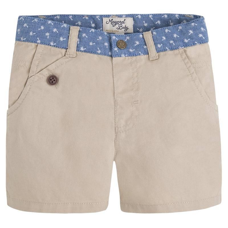 ШортыШорты бежевого цвета марки Mayoral для мальчиков.<br>Шорты из натурального хлопка украшены стильным принтом на поясе и двумя задними декоративными карманами, а также дополненышлейками для ремня.<br><br>Размер: 9 месяцев<br>Цвет: Бежевый<br>Рост: 74<br>Пол: Для мальчика<br>Артикул: 645311<br>Страна производитель: Индия<br>Сезон: Весна/Лето<br>Состав: 100% Хлопок<br>Бренд: Испания<br>Вид застежки: Кнопки
