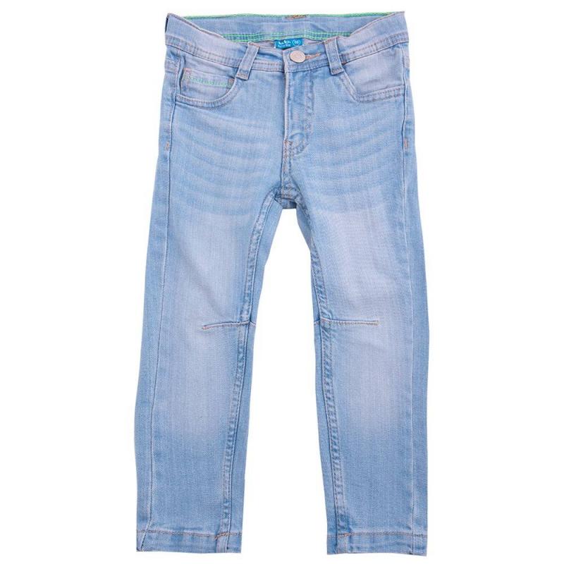 ДжинсыДжинсы голубого цвета марки Button Blue для мальчиков.<br>Зауженные джинсы из хлопка украшены декоративными потертостями, а также дополнены карманами и шлейками для ремня.<br><br>Размер: 8 лет<br>Цвет: Голубой<br>Рост: 128<br>Пол: Для мальчика<br>Артикул: 636052<br>Страна производитель: Бангладеш<br>Сезон: Весна/Лето<br>Состав: 98% Хлопок, 2% Эластан<br>Бренд: Россия<br>Вид застежки: Молния