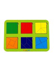 Рамка-вкладыш Сложи квадрат 6 квадратов Woodland