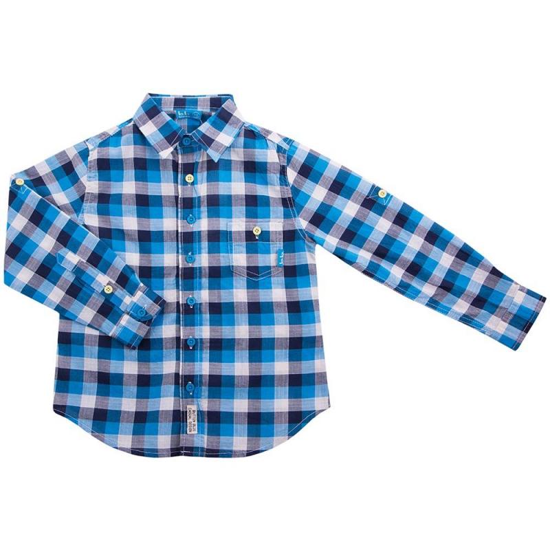 РубашкаРубашкаголубого цветамаркиButton Blue для мальчиков.<br>Легкая рубашкас длинным рукавом, выполненная из чистого хлопка, декорирована принтом в сине-голубую клетку, а также дополнена небольшим карманом.<br><br>Размер: 8 лет<br>Цвет: Голубой<br>Рост: 128<br>Пол: Для мальчика<br>Артикул: 635918<br>Страна производитель: Китай<br>Сезон: Весна/Лето<br>Состав: 100% Хлопок<br>Бренд: Россия<br>Вид застежки: Пуговицы