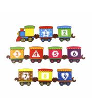 Обучающий набор Поезд с цифрами Woodland