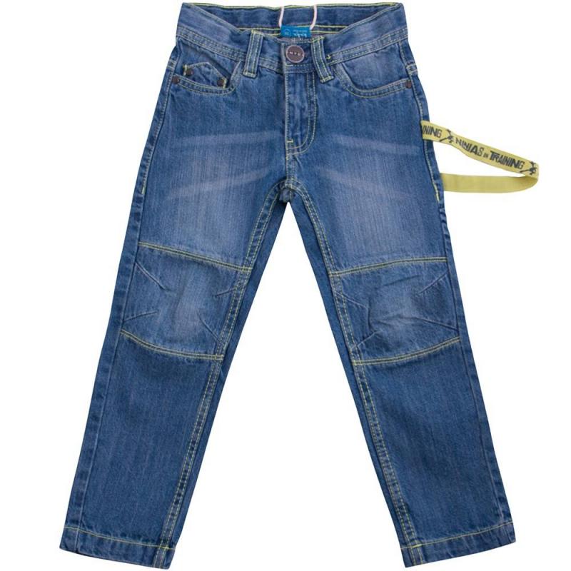 ДжинсыДжинсы голубого цвета марки Button Blue для мальчиков.<br>Зауженные джинсы из хлопка декорированы принтом с изображением Черепашки Ниндзя на заднем кармане, а также дополнены лентой зеленого цвета с надписями.<br><br>Размер: 3 года<br>Цвет: Голубой<br>Рост: 98<br>Пол: Для мальчика<br>Артикул: 636562<br>Бренд: Россия<br>Страна производитель: Бангладеш<br>Сезон: Весна/Лето<br>Состав: 100% Хлопок<br>Вид застежки: Молния<br>Лицензия: Черепашки Ниндзя