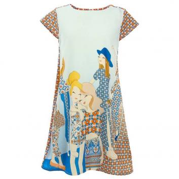 Девочки, Платье MAYORAL (оранжевый)644091, фото
