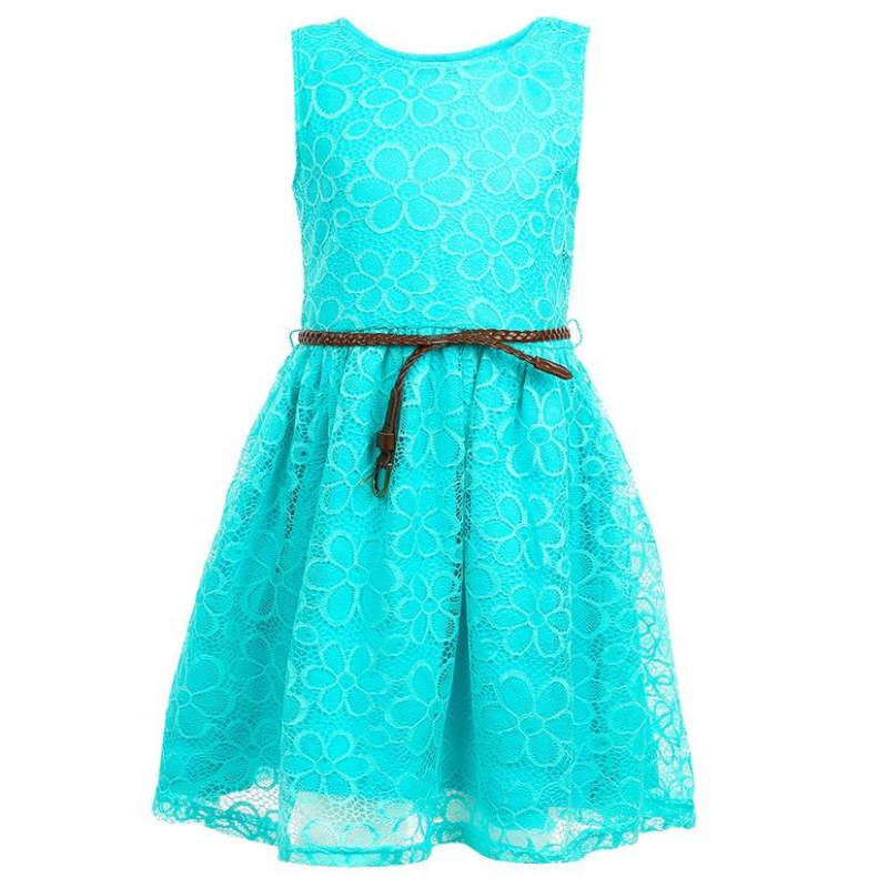 ПлатьеПлатьебирюзовогоцвета марки Incity.<br>Элегантное платье на хлопковой подкладке выполнено из нежного кружева. Модель с пышной юбкойдополнена стильным ремешком коричневого цвета.<br><br>Размер: 9 лет<br>Цвет: Бирюзовый<br>Рост: 134<br>Пол: Для девочки<br>Артикул: 644930<br>Страна производитель: Китай<br>Сезон: Весна/Лето<br>Состав: 95% Нейлон 5% Спандекс<br>Состав подкладки: 95% Хлопок, 5% Эластан<br>Бренд: Россия