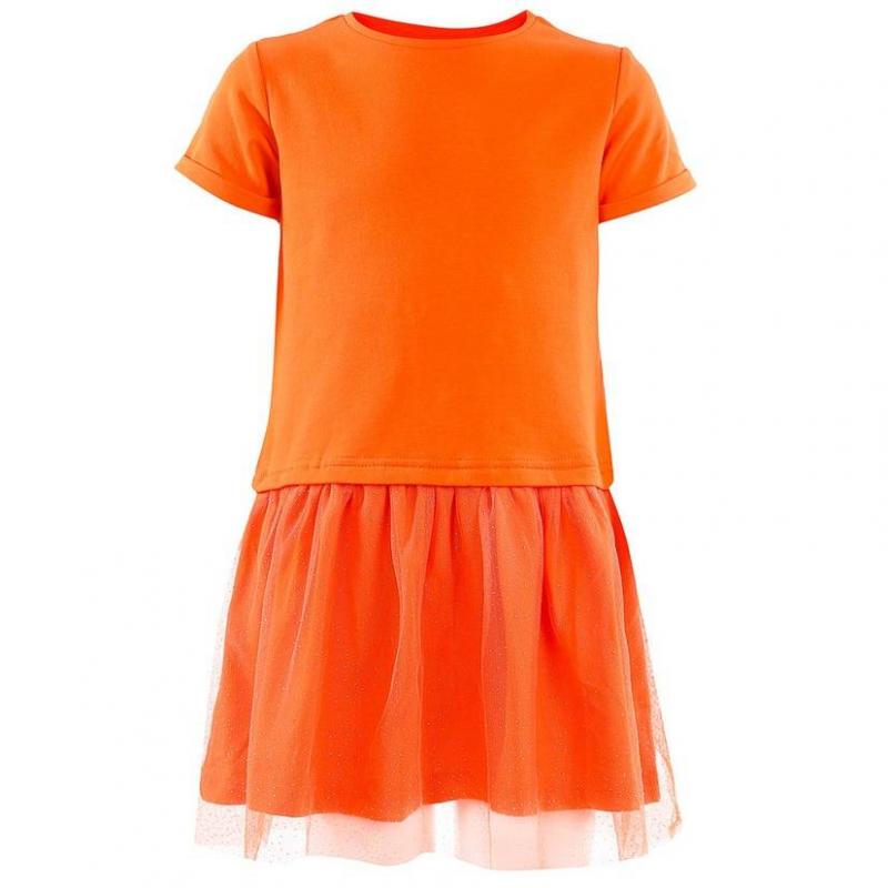 ПлатьеПлатье коралловогоцвета марки Incity.<br>Оригинальноеплатье с подкладкой из чистого хлопка выполнено в насыщенном цвете. Короткие рукава дополнены стильными отворотами. Пышная юбка уркашена блестками.<br><br>Размер: 5 лет<br>Цвет: Коралловый<br>Рост: 110<br>Пол: Для девочки<br>Артикул: 644941<br>Страна производитель: Китай<br>Сезон: Весна/Лето<br>Состав: 95% Нейлон 5% Спандекс<br>Состав подкладки: 100% Хлопок<br>Бренд: Россия