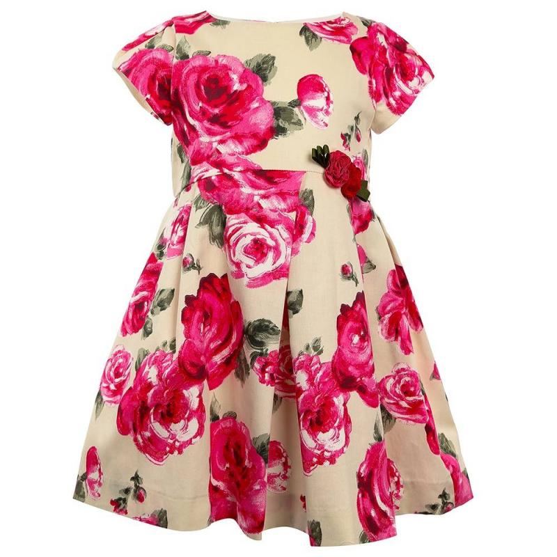 ПлатьеПлатьемалиновогоцвета марки Mayoral.<br>Нежное платье украшено яркимпринтом и объемными розочками на поясе. Модель выгодно подчеркнута юбочкой в складку и дополнена потайной молнией.<br><br>Размер: 8 лет<br>Цвет: Малиновый<br>Рост: 128<br>Пол: Для девочки<br>Артикул: 644074<br>Страна производитель: Марокко<br>Сезон: Весна/Лето<br>Состав: 96% Хлопок, 4% Эластан<br>Состав подкладки: 65% Полиэстер, 35% Хлопок<br>Бренд: Испания<br>Вид застежки: Молния