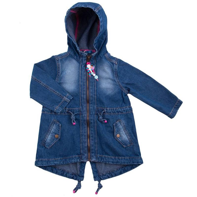 КурткаКуртка синего цвета марки Button Blue для девочек.<br>Джинсовая куртка из стопроцентного хлопка с надписью белого цвета на спинке, молния декорирована бусами с изображением Даши Путешественницы. Изделие дополнено капюшоном, завязками и карманами на кнопках. Куртка с удлиненной спинкой.<br><br>Размер: 6 лет<br>Цвет: Синий<br>Рост: 116<br>Пол: Для девочки<br>Артикул: 636663<br>Страна производитель: Бангладеш<br>Сезон: Весна/Лето<br>Состав: 100% Хлопок<br>Бренд: Россия<br>Вид застежки: Молния