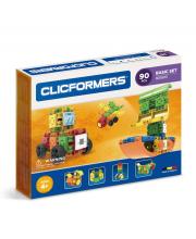 Конструктор Basic Set 90 деталей CLICFORMERS