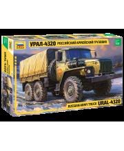 Сборная модель Российский армейский грузовик Урал-4320 ZVEZDA
