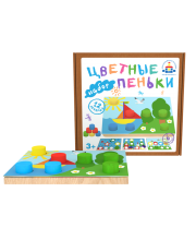 Рамка-вкладыш Цветные пеньки Краснокамская игрушка
