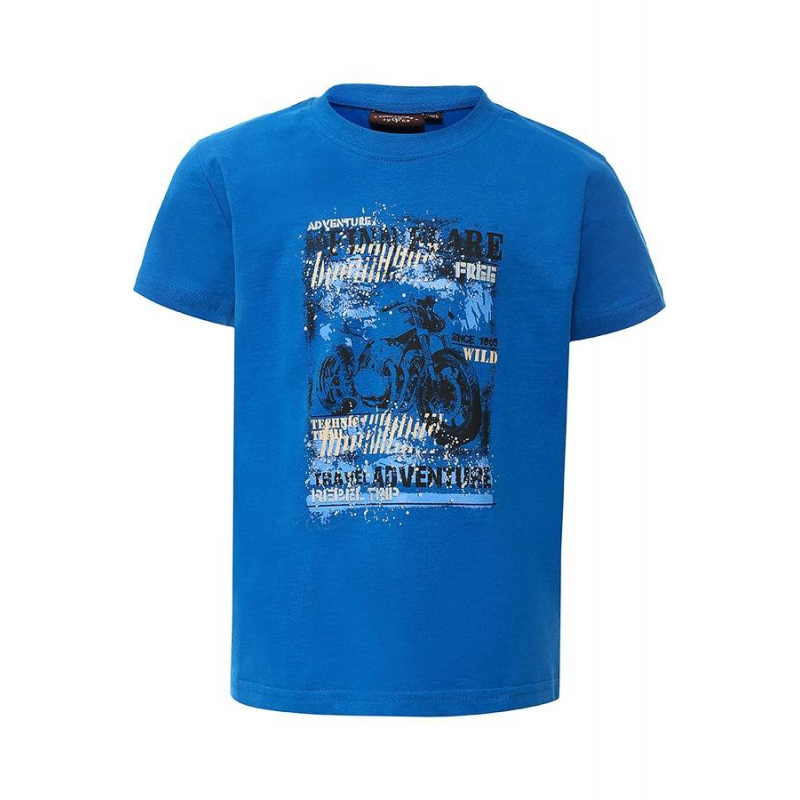 ФутболкаФутболка белогоцвета марки Finn Flare для мальчиков.<br>Однотонная футболка с коротким рукавом, выполненная из чистого хлопка, декорирована стильным принтомс надписямии изображением мотоцикла.<br><br>Размер: 11 лет<br>Цвет: Синий<br>Рост: 146<br>Пол: Для мальчика<br>Артикул: 645483<br>Страна производитель: Бангладеш<br>Сезон: Весна/Лето<br>Состав: 100% Хлопок<br>Бренд: Финляндия