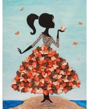 Мозаика из пайеток Девочка с бабочками Волшебная мастерская